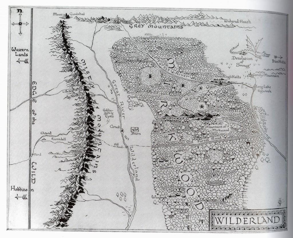 Carte des Terres Sauvages Tolkien
